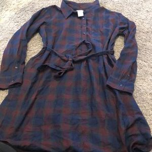 Plaid shirt dress gap